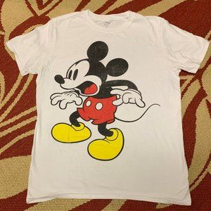 Disney Men's Mickey Mouse Shocked Tee